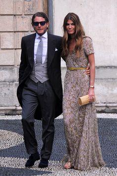 Stylish couple, Bianca Brandolini and Lapo Elkann. Glamour, Morning Dress, Wedding Guest Looks, Party Mode, Stylish Couple, Fashion For Petite Women, Fashion Couple, Party Fashion, Elegant Dresses