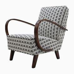 Fauteuil par Jindřich Halabala pour UP Závody, Art Deco Furniture, Vintage Design, Modern Rugs, Decoration, Art Nouveau, Armchair, Upholstery, Chairs, House