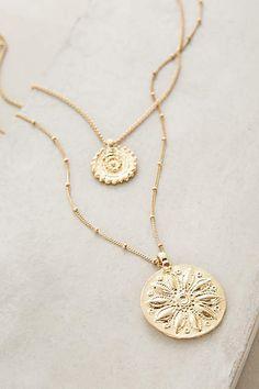 Layered Emblem Necklace - anthropologie.com