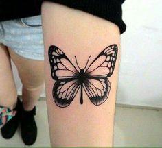 Tattoo borboleta no braço