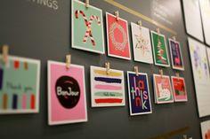 string & peg card display