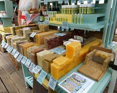 Handmade soap booth - nice fixture