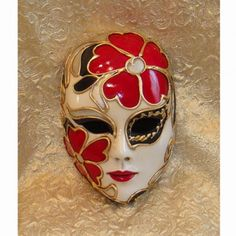 Tropicana Hot Summer Large Ceramic Decorative Mask :- This ceramic decorative mask has been embellished with gold and silver leaf and has hand-piped relief work. The mask would make a beautiful decorator piece in your own home with its bright colors.