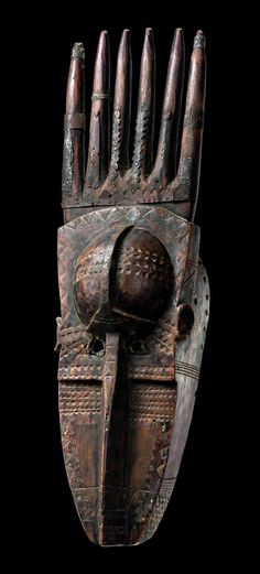 "Africa | Mask ""ntomo"" from the Bamana people of Mali 