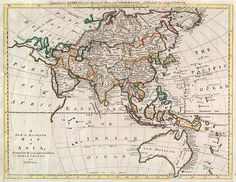 """A new & accurate map of Asia,"""" 1787.Part of the Sea of Korea Maps Collection in the USC Digital Library."""