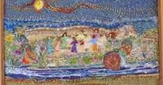 Mais um pouco, da exposição de bordados, do Grupo Matizes Dumont, no Centro Cultural Yves Alves em Tiradentes/MG.  Eu continuo em estado de...