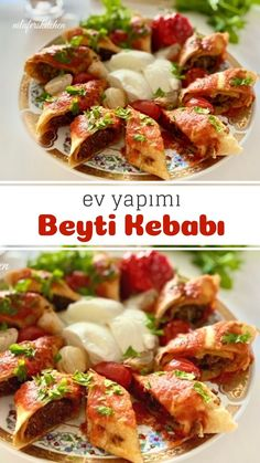 Turkish Recipes, Frozen Yogurt, Great Recipes, Hamburger, Lunch Box, Food And Drink, Dishes, Meat, Chicken