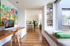 Neil Architecture: Orchard Crescent, Melbourne, Victoria  Study desk and bench seating
