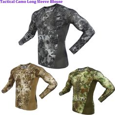 28.86$  Watch now - http://aibxw.worlditems.win/all/product.php?id=32662917251 - Outdoorbionic python pattern Camo Top Slim Quick-drying long-sleeve sweat absorption breathable tactical training tatico T-Shirt