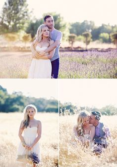 Fields of Lavender: Farm Out Your Engagement Session | Best Wedding Blog - Wedding Fashion & Inspiration | Grey Likes Weddings