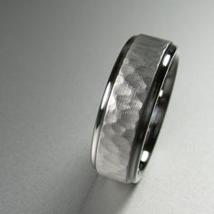 Men's Wedding Band Stainless Steel Comfort Fit by spexton on Etsy, $249.00