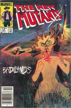 New Mutants 20 Comic Book Artists, Comic Artist, Comic Books Art, Superhero Series, Marvel Series, Fun Comics, Marvel Dc Comics, Marvel Art, Badlands Series