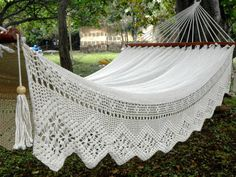 crochet lovely backyard peaceful relax hammock