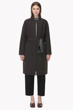 Wool blend overfit coat