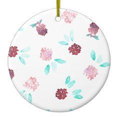 #flower - #Clover Flowers Circle Ornament