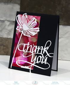 Yours Truly: More thank you cards Quick Cards, Diy Cards, Your Cards, Thank U Cards, Poppy Cards, Elizabeth Craft Designs, Christmas Words, Making Greeting Cards, Penny Black