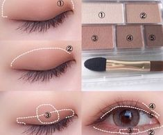 application stepbystep ultimate tutorial perfect makeup face for Ultimate Stepbystep Tutorial For Perfect Face Makeup Application You can find Eye makeup and more on our website Eye Makeup Blue, Natural Makeup For Brown Eyes, Asian Eye Makeup, Eye Makeup Steps, Doll Eye Makeup, Natural Lipstick, Prom Makeup, Korean Makeup Tips, Korean Makeup Tutorials