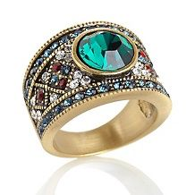 "Heidi Daus ""Daily Double"" Crystal-Accented Band Ring"