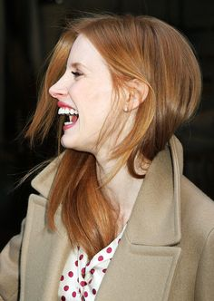 "dakjohnsons: ""Jessica Chastain outside 'Live! With Kelly and Michael' in New York, January "" Jessica Chastain, Red Hair Inspiration, Gorgeous Redhead, Beautiful Red Hair, Actress Jessica, Strawberry Blonde, Sexy Hot Girls, Most Beautiful Women, Pretty Woman"