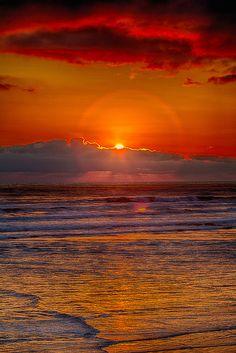 Sunset off the Northern Washington coast