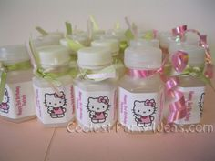 hello kitty container favor