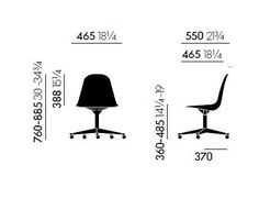 PSCC Fabric task chair Eames Plastic Side Chair Collection by Vitra design Charles