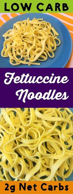 These low carb fettuccine noodles could not be easier to make. You just blend the ingredients, pour them into a pan and then bake them. Before you know it, you'll have delicious low carb noodles with only 2g net carbs per serving. These noodles are Keto, Paleo, Atkins, Banting, THM-S. LCHF, Grain Free, and Gluten Free. #resolutioneats #lowcarb #keto #noodle #paleo