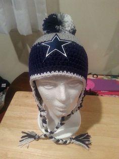 Dallas Cowboys Crocheted Beanie Dallas by FaithfulDexterity
