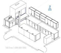 Laboratory Cabinets Workstations Casework Designs | Lab Furniture Layout Plans