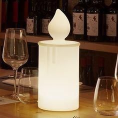 Outdoor portable lamp, Fiamma, white, LED, IP55, Ø12cm, H30cm - Slide - Nedgis lighting