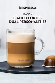 Bianco Forte is a coffee meant for milk. Its powerful, balanced flavor first punches through milk's sweetness and is then softened, equilibrium achieved. Consider this Nespresso coffee a study in balance. On one side, an assertive intensity. The other, a steadfast lightness. Its dual personality comes from its split roast, a combo of Columbian and Kenyan Arabicas. Half are roasted long and dark; half gently and quick. Combined, you get a Vertuo coffee with a unique roasty character. Coffee Aroma, Coffee Tasting, Coffee Pods, Nespresso Recipes, Nespresso Usa, Milk Recipes, Coffee Recipes, Coffee Origin