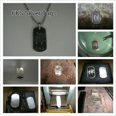 FKS Tags: from rough metal to a jewel, handcrafted & customized by Paolo Brunicardi for FKS Jewels