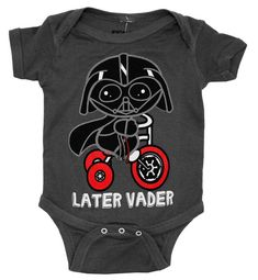 Star Wars – Later Vader Onesie – Darth on a Bike – GeekBabyClothes.com