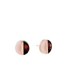 Rose Gold-Tone Color-Block Stud Earrings  by Michael Kors. I would literally wear these every day.