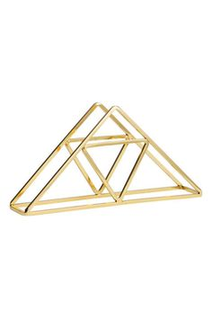 Metal napkin holder - geometric - gold - £6.99 - H&M