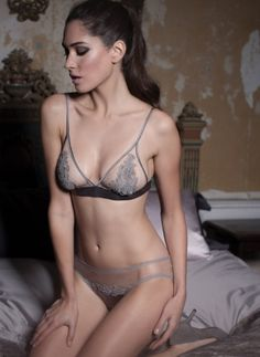Fleur of England - Let the most romantic lingerie you have encountered enchant you. The Heiress guipure boudoir bra is our most graceful bra. It is the perfect luxury lingerie item for your trousseau. The soft triangle bra features flattering panels of luxurious guipure embroidery which is hand cut and stitched on to Italian 'invisible' tulle leaving just enough to the imagination. (£100.80) #lingerie