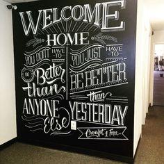 Resultado de imagem para chalkboard wall ideas