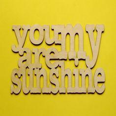 Adorning AL 'You are My Sunshine' Wall Art - Wood