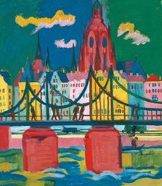 Ernst Ludwig Kirchner (1880-1938), Frankfurt Cathedral, 1926, Oil on canvas