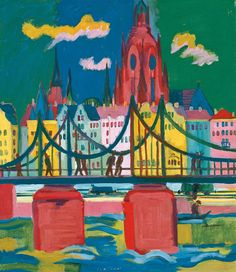 Ernst Ludwig Kirchner (1880-1938), Frankfurt Cathedral, 1926, Oil on canvas