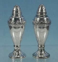 Vintage Silverplate LURALINE Salt & Pepper Shakers Lazer Luria & Sons from abesilvermanantiques on Ruby Lane