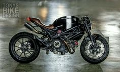 I know we literally just featured a Monster 795 from Tony's BIKE Design in Bangkok Thailand a few days ago, but I think this 796 build is worth it. Ducati 796, Moto Ducati, Ducati Cafe Racer, Ducati Motorcycles, Cafe Racer Motorcycle, Motorcycle Gear, Custom Motorcycles, Cafe Racers, Custom Bikes
