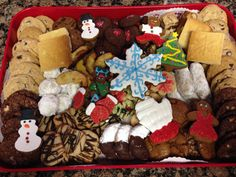 A platter of my Christmas cookies. Lots of baking this year!