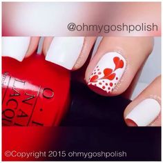 ohmygoshpolish's video on Instagram - cute way to make Valentine's Hearts! ❤️