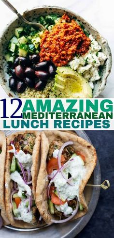 Mediterranean diet recipes to help you lost weight a eat healthier. Healthy Diet Plans, Healthy Eating, Fallen Fruits, Mediterranean Diet Recipes, Tacos, Lose Weight, How To Plan, Ethnic Recipes, Food