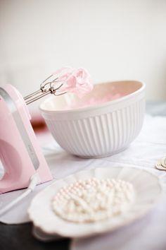 Rosa håndmikser
