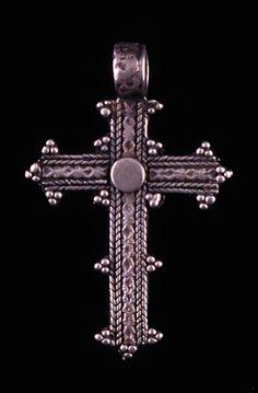Ethiopia   Pendant cross; silver   20th century