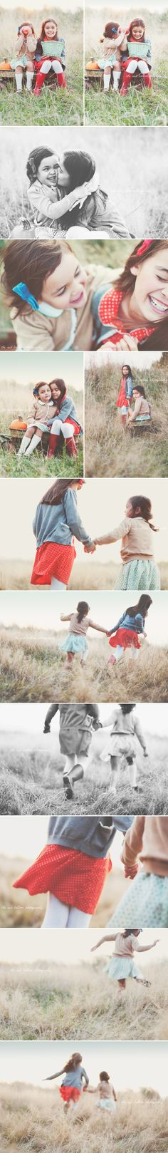 Adorable sister photo shoot
