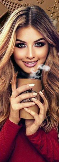 Beautiful Girl Image, Beautiful Women, Glam Photoshoot, Belle Silhouette, Coffee Girl, Beautiful Gif, Cute Girl Face, Cute Beauty, Blonde Beauty
