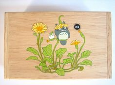 My Neighbor Totoro Hand Paint wood Box Studio Ghibli 17. $14.50, via Etsy.